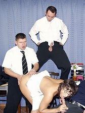 Secretary gangbanged at work by all her male colleagues