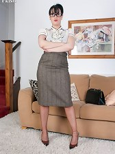 Librarian Tanya, prim or slutty, in nylons and heels?